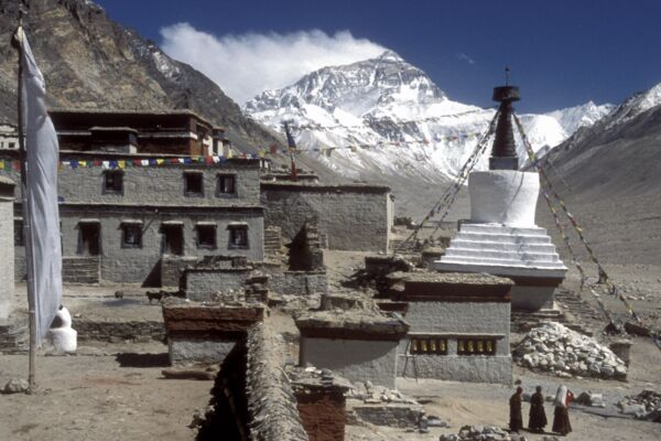Everest Basislager, Tibet - zum BC-Nord des Mount Everest.