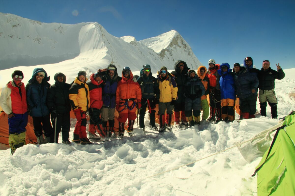 Baruntse Team 2009 im Hochlager - Expedition Nepal