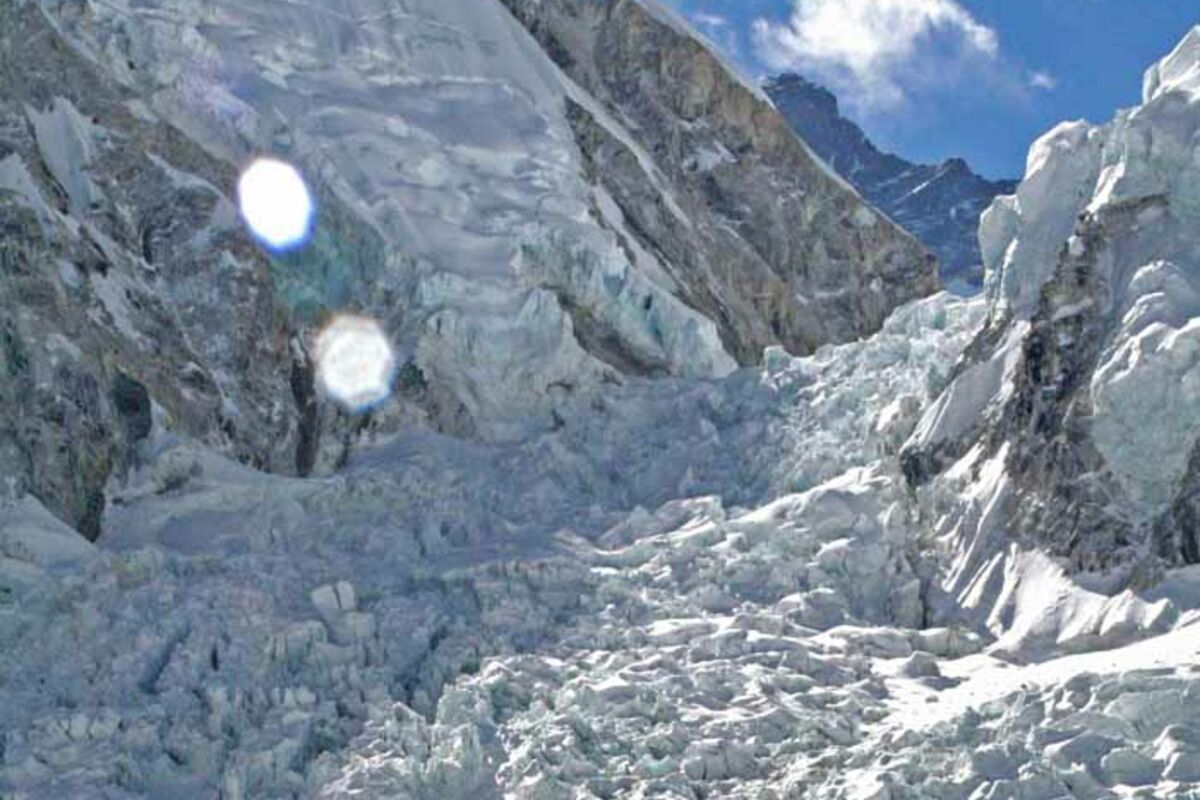 Expedition in Nepal, Khumu Icefall am Mount Everest